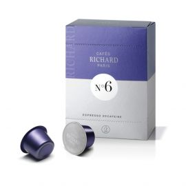 Cafes Richard N6 Decaffeinated Espresso - Coffee Capsules 24 Pcs