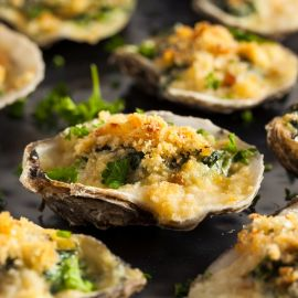 Baked Oysters With Lemon Butter